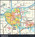 Ann Arbor, Michigan Area Map Stock Vector Illustration ...