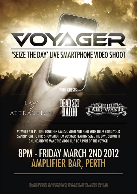 voyager seize star wants clip film shoot maytherockbewithyou riotact