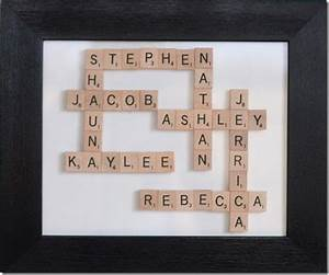 17 best images about scrabble tile ideas on pinterest With family name picture letters