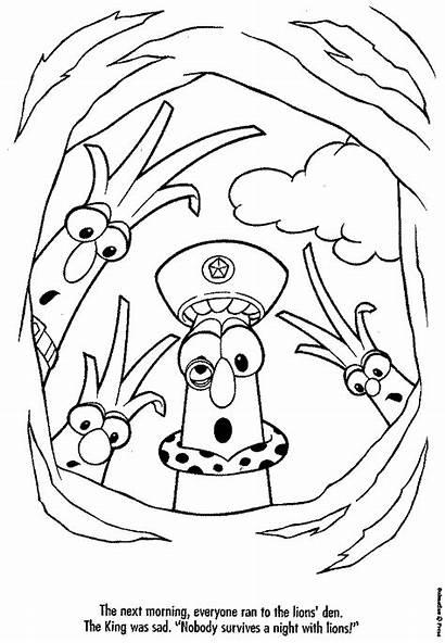 Coloring Veggietales Pages Larry Veggie Tales Boy