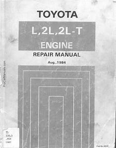 Toyota L 2l 2l-t Engine Workshop Service Repair Manual