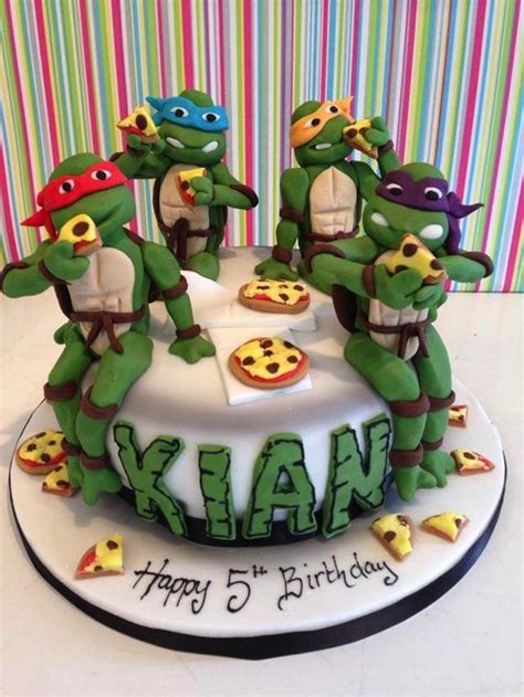 turtle decorations uk mutant turtle cake cake decorating