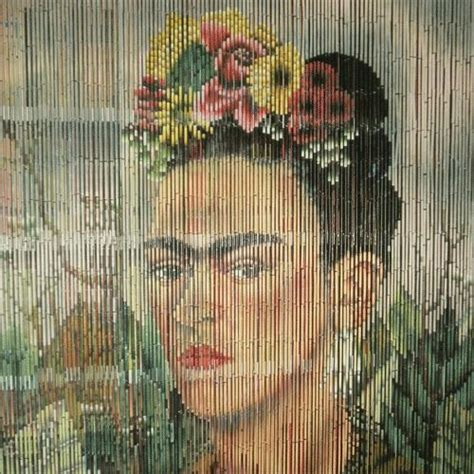 bamboo beaded door curtains painted fair frida kahlo curtain aaaarrgh kitsch products and
