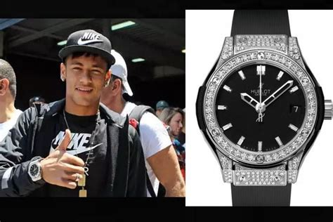 neymars black  hublot diamond classic fusion