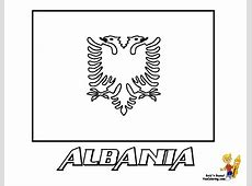 Albania Flag Free Coloring Pages