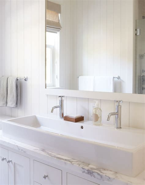 small trough bathroom sink with two faucets white bathroom with trough sink for two traditional bathroom