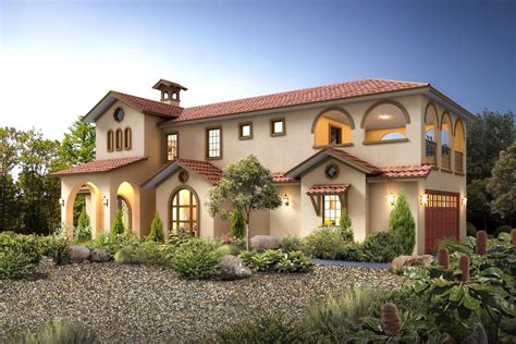 Exciting Mediterranean House Plan with Upper Terrace Deck