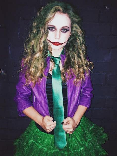 joker kostüm damen attraktives joker kostpm f 252 r damen mit rock und lederjacke diy kost 252 me costume in 2019