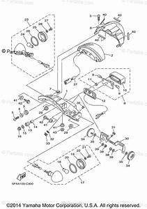 Yamaha Motorcycle 2009 Oem Parts Diagram For Taillight