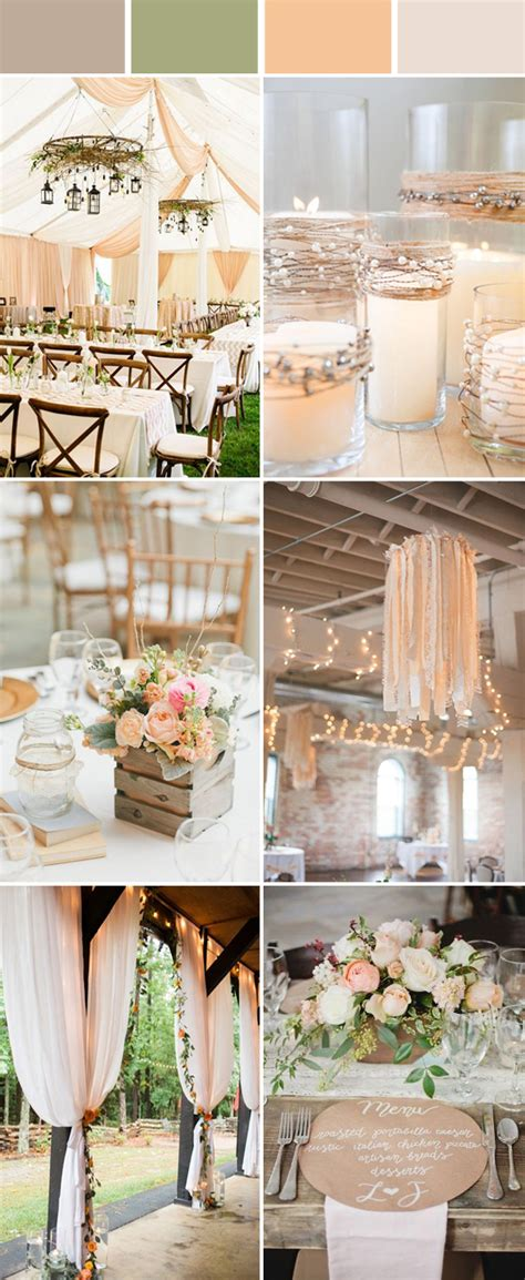 top  elegant  chic rustic wedding color ideas