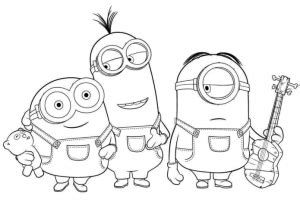 printable minions activitycoloring pages computer