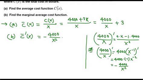 Marginal Average Cost function YouTube