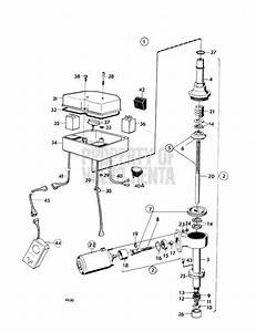 Volvo Penta Exploded View    Schematic Mechanical Lift Device Aq Drive Unit 280 Early Type