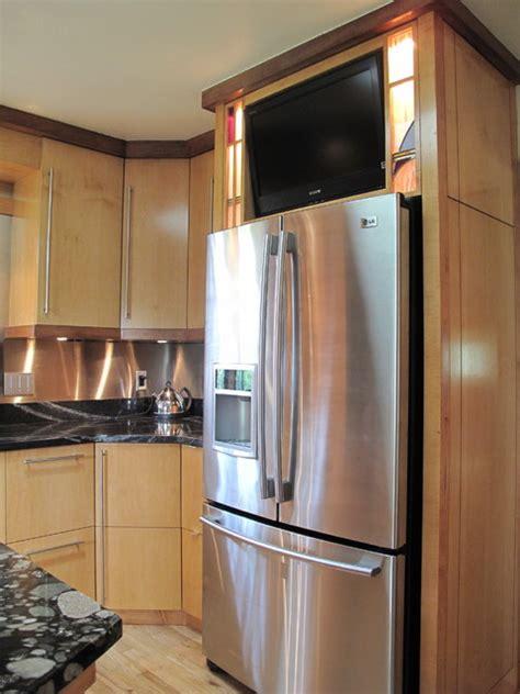 mackintosh inspired kitchen fridge modern kitchen