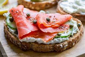 Smoked Salmon & Cucumber Cream Cheese Appetizers - Saving ...