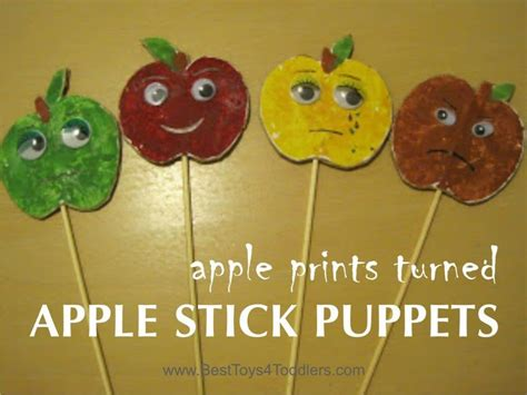 apple print puppets