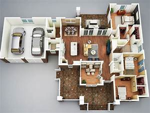 3 Bedroom House Plans With Basement Layout : 3 Bedroom ...