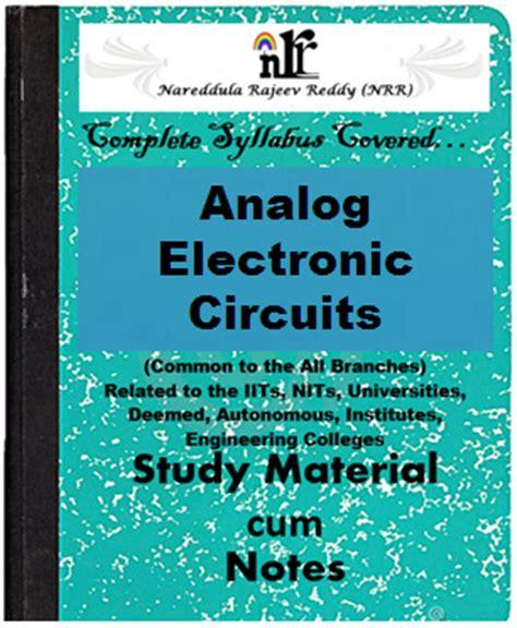 Analog Electronic Circuits Pdf Study Materials Cum Notes