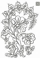 Embroidery Patterns Jacobean Designs Hand Coloring Pages Mexican Para Dibujos Crewel Bordar Folk Machine Ribbon sketch template