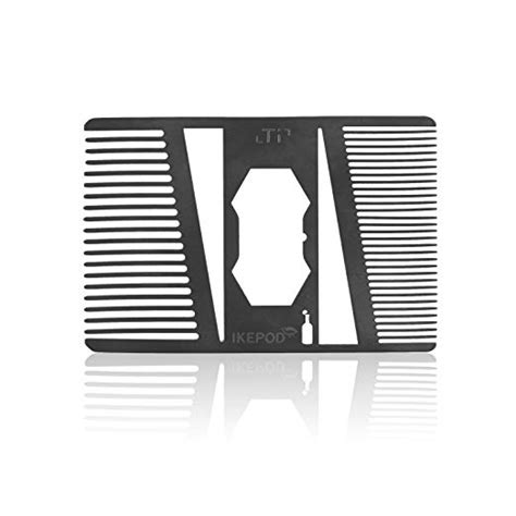 With 57 patents issued globally, luxury card leads the industry in metal card design and construction by combining advanced technology and design principles to create durability and distinction. Titanium Alloy Beard Comb with Bottle Opener - Credit Card Size EDC Metal Wallet Comb for ...