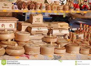 Group Of Wooden Souvenirs Royalty Free Stock Photos