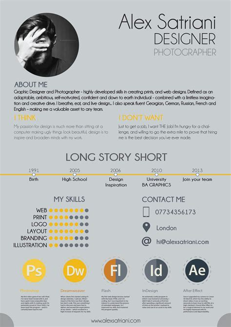 Graphic Designer Cv by Like The Heading Story And I Think I Dont
