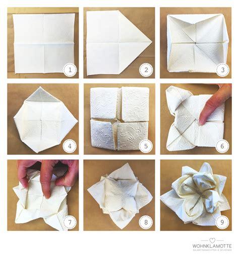 servietten falten blume servietten falten blume anleitung servietten falten