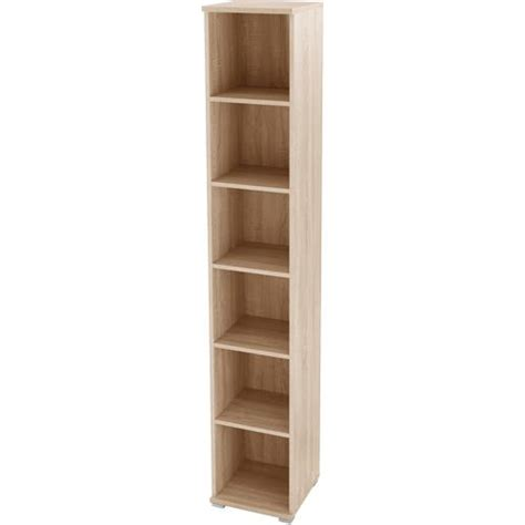 Cheap Narrow Bookcase germania omega 5 shelf narrow bookcase oak pack