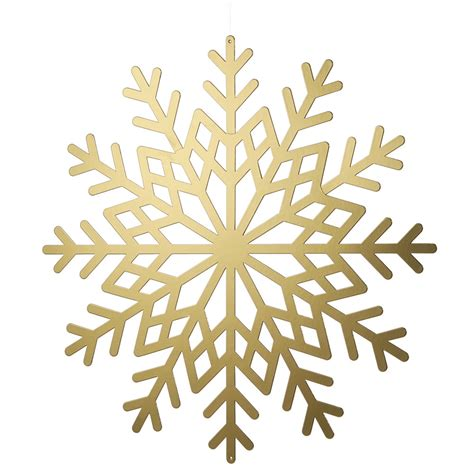 Transparent Background Gold Snowflake Png by Gold Metallic Card Snowflakes Dzd