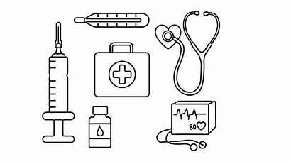 Coloring Drawing Medical Kit Kits Draw Drawings