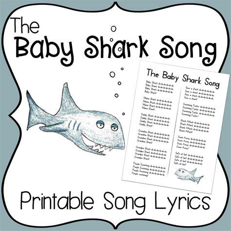 baby shark song printable lyrics early childhood 111 | 074eaf2e02e567fa7ded867f221fe21f