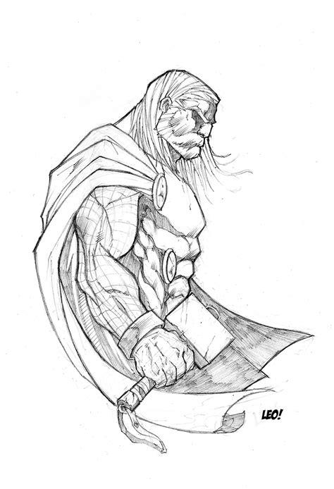 thor sketch by spideycreed on deviantart