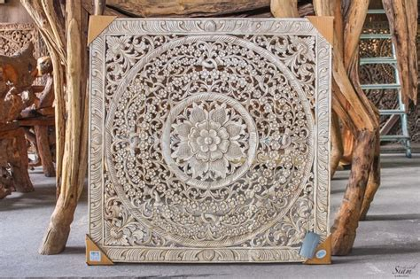Buy Thai Wood Carving Wall Art Panel Asian Home Decor Online: Large Bali Or Thai Carved Wood Wall Art Panel. By