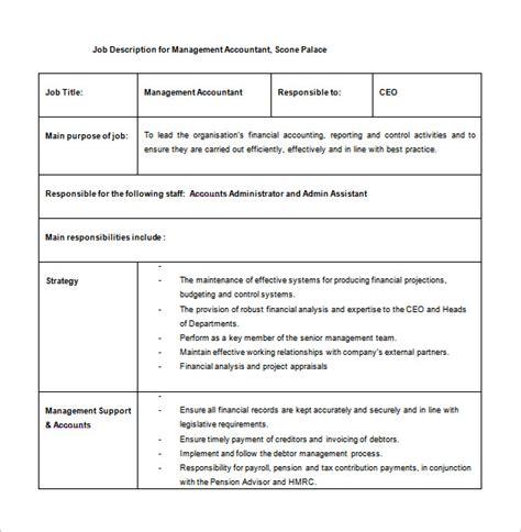 description template word 11 accountant description templates free sle exle format free