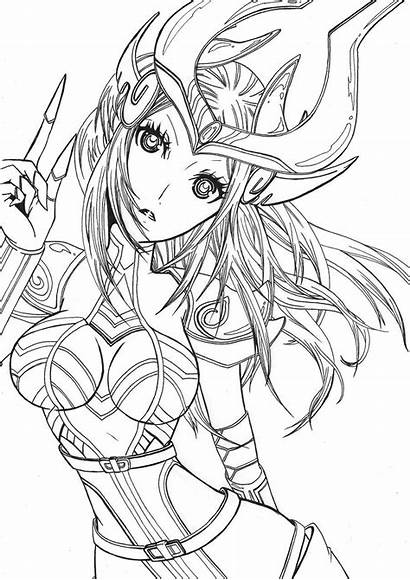 Syndra Legends League Coloring Deviantart Drawings Lineart