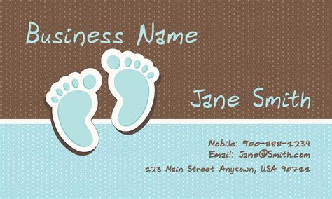 babysitting  day care business cards babyshower designs