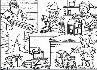 Coloring Pages Primary Christmas Santa Claus Workshop