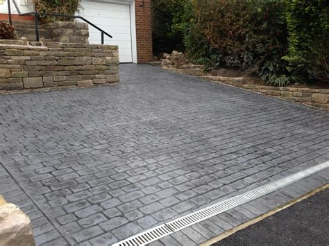 paving patterns for driveways block paving alternative pattern imprinted concrete driveways by complete driveway designs