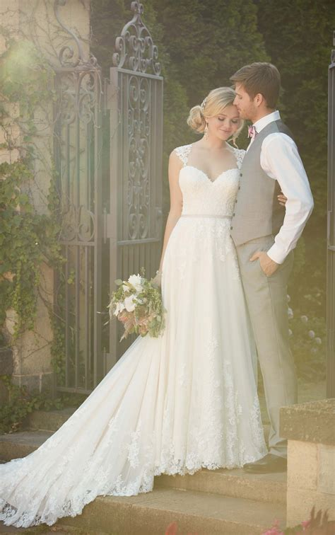 Boho Lace Wedding Dress With Back Detail Essense Of