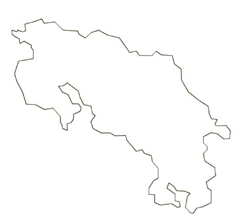 map  costa rica terrain area  outline maps  costa