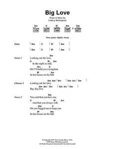 Big Love sheet music by Fleetwood Mac (Lyrics & Chords