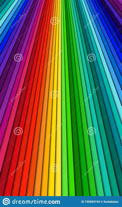 Brightly Colored Abstract Background Spectrum Lines