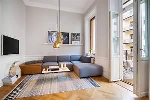Tapis Style Scandinave : salon scandinave am nager et d corer en 45 photos ~ Teatrodelosmanantiales.com Idées de Décoration