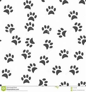 Dog's Paw Print Background. Seamless Pattern. Stock Vector ...