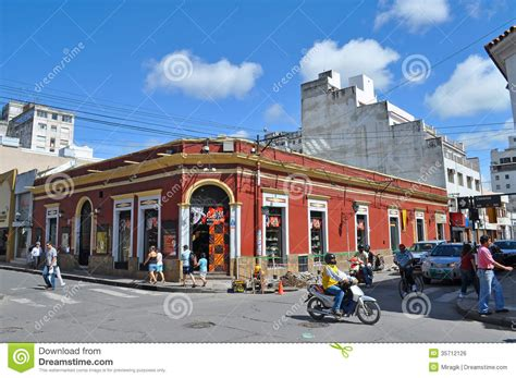 traditional colonial house plans on the in salta city editorial photo