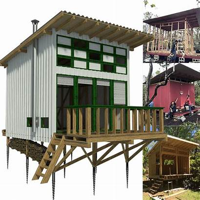 Plans Cabin Vacation Tiny Lake Shed Frame