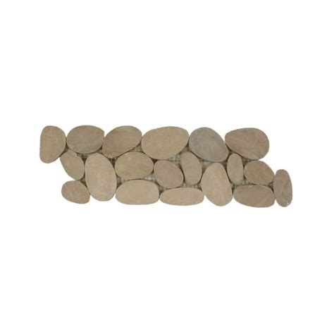 sliced pebble tile border sliced pebble border botany bay blend olive black
