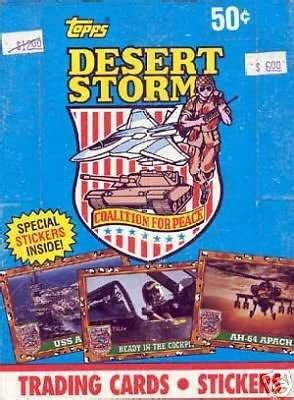 Of brooklyn, a borough of toys and games new york city, published a desert storm collector series of stickers and trading cards depicting u.s. DESERT STORM 1 COALITION FOR PEACE 1991 TOPPS WAX TRADING CARD BOX ARMED FORCES at Amazon's ...