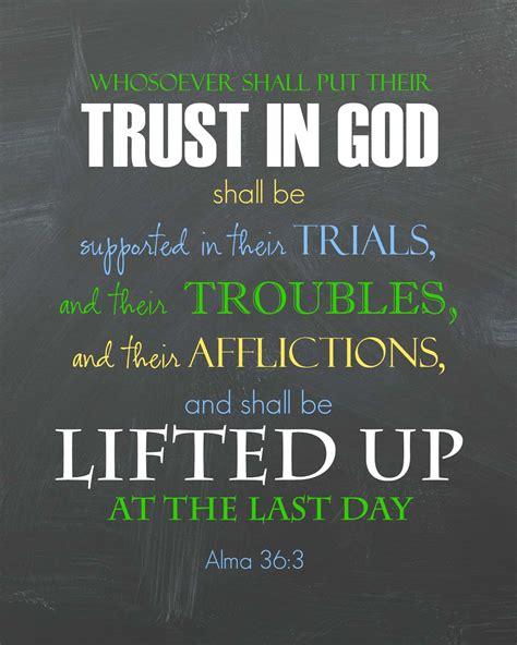 ponderize scripture printable trust  god