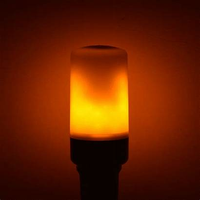 Flickering Led Fire Lamp Lights Flame Night